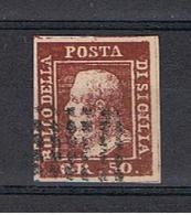 SICILIA:  1859  FERDINANDO  II°  -  50 Gr. LACCA  BRUNO  US. -  FAKE  COPY  -  SASS. (14) - Sicile