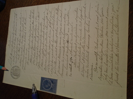 1888 -DOCUMENT (ALBI -TARN) - 1TP/ COPIE Dentelé + Verso 2 OBL/ DECIMAL + TAMPON A SEC ++FILIGRAMME - Steuermarken