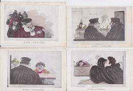 Sèrie En Justice D'Alba Illustrateur Dessin Illustration Satirique Juge Avocat Procureur Tribunal Cour Lot De 8 Cpa - Andere