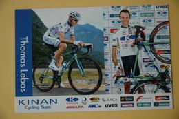 CYCLISME: CYCLISTE : THOMAS LEBAS - Cyclisme