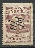 FINLAND FINNLAND 1903 Railway Stamp O - Paketmarken