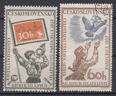 TSJECHOSLOWAKIJE - Michel - 1957 - Nr 1028/29 - Gest/Obl/Us - Tchécoslovaquie