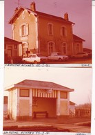 85 / LA MOTHE ACHARD  /  2 PHOTO VERITABLE  GARE 1981 / FORD ESCORT / AMI 6 / R15 - La Mothe Achard