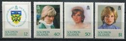 Solomon Islands Mi# 466-9 Postfrisch/MNH - Diana 21st Birthday - Salomon (Iles 1978-...)