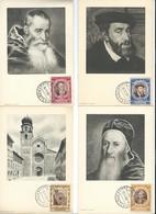 VATICAN - Cartes Maximum - Timbres 1950 - Série Complète 1 à 14 Publicité MARINOL, PLASMARINE - Concile De Trente - Vatican