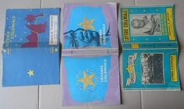 3 Anciens Protège-livre Publicitaires Loterie Coloniale - Transports