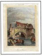 TOURNAI : Pont Des Trous - Gravure Originale XIXe S - Estampes & Gravures