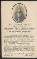 JACQUES VIGY . CUIRASSIERS . MORT AU COMBAT 1917. IMAGE RELIGIEUSE - Guerre, Militaire