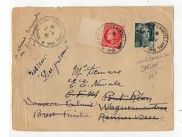 C 07 04 1946 Cachet Marine Colonies Nantes 07 04 1946  Daguin Peu Courant Sur Devant De Lettre Marques De Recherche - Marcophilie (Lettres)