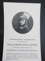Dp Paula Van Lierde (Sedeyns) Gent 1922 - 1929 - Religion & Esotericism