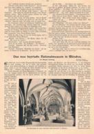 399 München Nationalmuseum Artikel Mit 4 Bildern 1900 !! - Unclassified