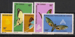 Congo - 1971 - N°Yv. 303 à 307 - Papillons - Neuf Luxe ** / MNH / Postfrisch - Congo - Brazzaville