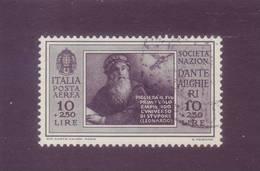 Italia 1932 Pro Società Dante Alighieri 10L + 2,50 Bruno Nero Di Posta Aerea. Usato - 1900-44 Vittorio Emanuele III
