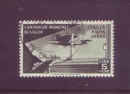 Italia 1934 - Mondiali Di Calcio, Posta Aerea 5L + 2,50 Usato. Centrato - 1900-44 Vittorio Emanuele III
