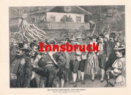 405 Innsbruck Volkstrachtenfest Volksfest Artikel Mit 4 Bildern 1894 !! - Revues & Journaux