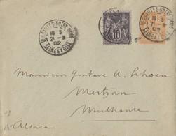 SEINE ET OISE ENTIER ENV 15C MOUCHON 1902 VERSAILLES NOTRE DAME ( COMPLEMENT 10C SAGE ) => ALSACE - 1877-1920: Periodo Semi Moderno
