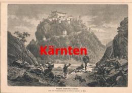 407 Hochosterwitz Margarethe Maultasch Artikel Mit 1 Bild 1879 !! - Revues & Journaux