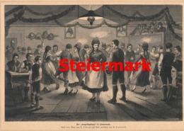 408 Steiermark Hochzeitsbrauch Trauung Artikel Mit 1 Bild 1882 !! - Revues & Journaux