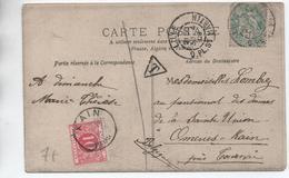 1906 - CP De LILLE (NORD) Pour KAIN Avec TAXE - Postage Due