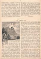 409 Wien Wiener Bauten Rathaus Artikel Mit 5 Bildern 1882 !! - Revues & Journaux