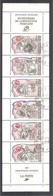 BANDE- CARNET Personnages Célèbres Révolution 1989. Y&T N°BC2570. Bande X 6 TP. 2 F 20+50c + 2 Vignettes > Oblitérée. - Markenheftchen