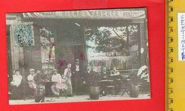 1 Postcard Real Photo - France, Restaurant AU SOLEIL D'OR - le Cachet Sur Le Timbre : On Voit Le Mot Allemagne - France