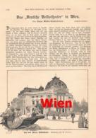 410 Wien Wiener Deutsche Volkstheater Artikel Mit 2 Bildern 1889 !! - Revues & Journaux