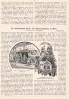 411 Wien Musik-/Theaterausstellung International Artikel Mit 8 Bildern 1892 !! - Revues & Journaux
