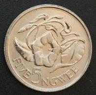 ZAMBIE - ZAMBIA - 5 NGWEE 1982 - KM 11 - Zambia