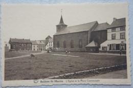 CPA SAINT MARTIN BALATRE Région Mazy Jemeppe Sur Sambre Sombreffe Eglise Et Place Communale - Jemeppe-sur-Sambre