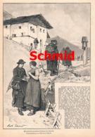 414 Mathias Schmid Paznauntal Sagen Gebräuche Artikel Mit 5 Bildern 1887 !! - Revues & Journaux