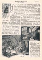 416 Wien Rathauskeller Rathaus Artikel Mit 5 Bildern 1899 !! - Revues & Journaux