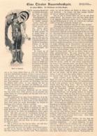 418 Fritz Bergen Tirol Bauernhochzeit Artikel Mit 6 Bildern 1901 !! - Revues & Journaux