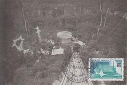 Carte  REUNION   Inauguration  De  L' Usine  Hydro - Electrique  De  TAKAMAKA    SAINT  DENIS   1968 - Lettres & Documents