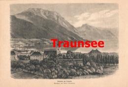 420 Traunsee Fürstenasyl Künstlerheim Artikel Mit 1 Bild 1878 !! - Revues & Journaux