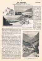422 Kaprun Kaprunertal Salzburg Artikel Mit 10 Bildern 1898 !! - Revues & Journaux