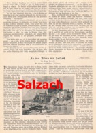 430 Salzach Laufen Burghausen Tittmoning  Artikel Mit 10 Bildern 1895 !! - Revues & Journaux