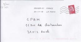 MARIANNE L'ENGAGEE N° 5253 ADH. SANS PHOSPHORE SUR LETTRES DIVERSES DE 2018 - 2018-... Marianne L'Engagée