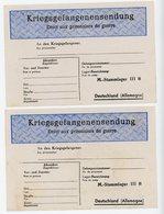 2 X BON EXPEDITION COLIS DU  STALAG IIIB = FURSTENBERG (BERLIN) NEUF LEGER PLI CENTRAL  SCAN RECTO ET VERSO - 1921-1960: Periodo Moderno