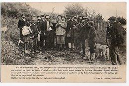 CHASSE AU TIGRE * DROUE (EURE & LOIR) * CHASSEURS * FUSIL * Cliché J. COUTAS, Rambouillet, * CHIENS - Caccia