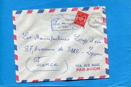 Marcophilie*lettre En FM-Congo -cad Brazzaville-1959 +cachet Cie De Parachutistes-+flamme Stamp FM N°12 - Bolli Militari A Partire Dal 1940 (fuori Dal Periodo Di Guerra)