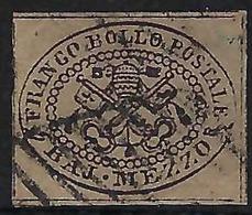 ITALIE Etats Pontificaux:   Le Y&T 1, Obl. Grille,    B à TB - Estados Pontificados