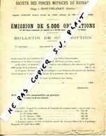 DOUBS CHARQUEMONT LE REFRAIN Emmission D'obligations 1908 ETAT - Non Classés