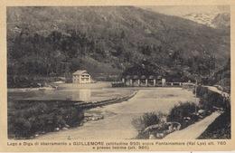 GUILLEMORE (AOSTA) - LAGO E DIGA - VAL LYS  - VIAGGIATA 1948 - Aosta