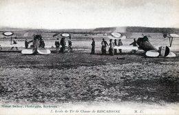 Ecole De Tir De La Chasse à BISCAROSSE  Les Avions Prêts Au Décollage - Regimientos