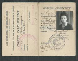 Caisse Départementale Des Assurances Maladies Du Gard , Carte D'identité Délivrée à Vezenobre - Historical Documents