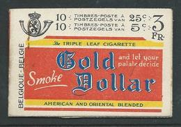 Postzegelboekje Gold Dollar A19 II - Carnets 1907-1941