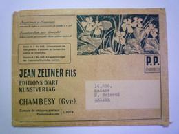 2020 - 5012  ENVELOPPE En P.P.  Au Départ De CHAMBESY à Destination De ARZIER   XXX - Schweiz