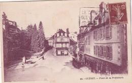 FRANCE  1932    CARTE POSTALE DE GUERET  PLACE DE LA PREFECTURE - Guéret