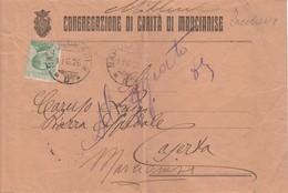 1926. Annullo Ambulante NAPOLI - BARI *D*, Su Lettera Della CONGREGAZIONE DI CARITA' DI MARCIANISE - Storia Postale